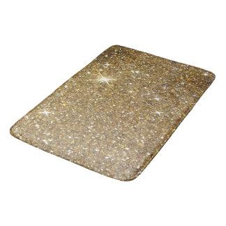 Utskrivavet lyxigt guld- glitter - avbilda badrumsmatta