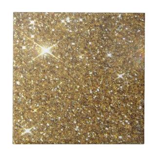Utskrivavet lyxigt guld- glitter - avbilda liten kakelplatta