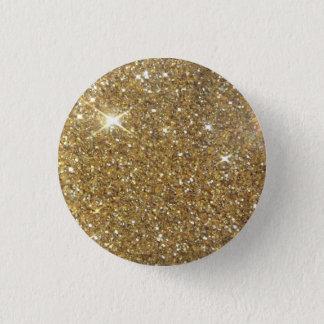 Utskrivavet lyxigt guld- glitter - avbilda mini knapp rund 3.2 cm