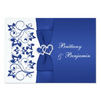 UTSKRIVAVNA BANDblått, blom- bröllopinbjudan för 12,7 X 17,8 Cm Inbjudningskort
