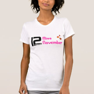 utslagsplats för 12tens Fröcken November T-shirts