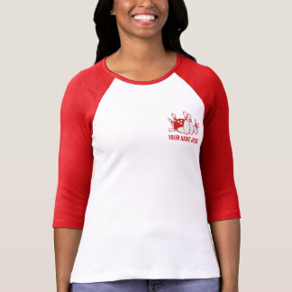 UTSLAGSPLATS för anpassadeBOWLINGlag T Shirt