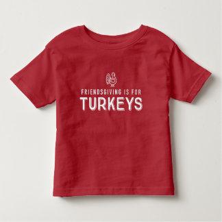 """Utslagsplats för Friendsgiving """"kalkon"""" ungar Tee Shirts"""