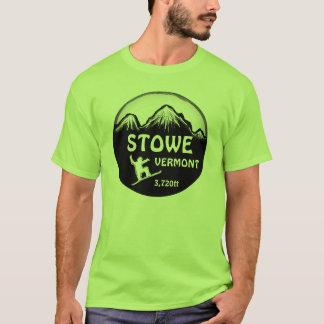 Utslagsplats för konst för Stowe Vermont grön T-shirts