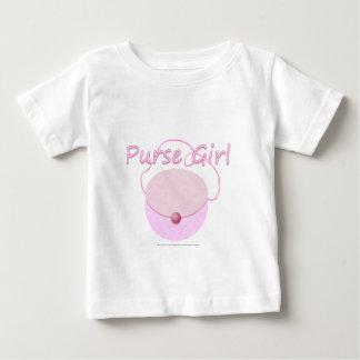 Utslagsplats för småbarn för rosahandväskaflicka tee shirts