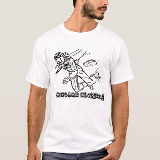 """Utslagsplats för Spaceman""""glidljud"""" vit Tee Shirt"""
