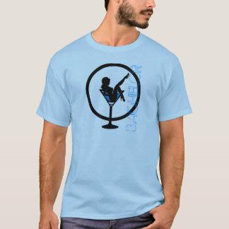 Utslagsplats för ungkarl för blått för Martini T Shirts