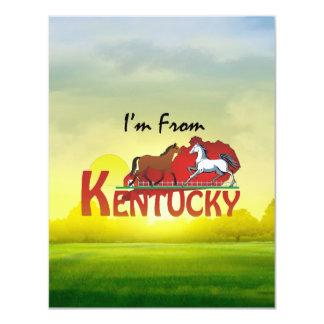 UTSLAGSPLATS mig förmiddag från Kentucky 10,8 X 14 Cm Inbjudningskort