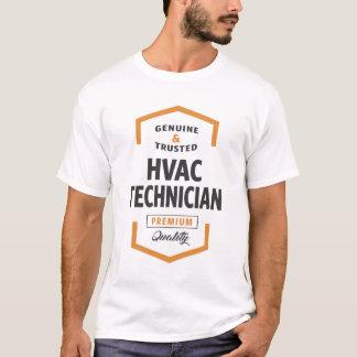 Utslagsplatser för HVAC-teknikerlogotyp Tshirts