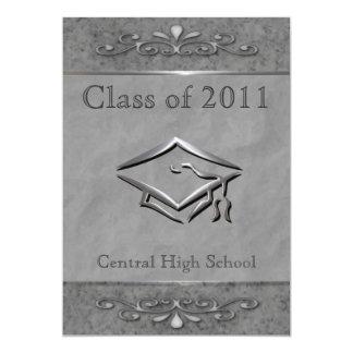 Utsmyckad anpassadestudentkort 12,7 x 17,8 cm inbjudningskort