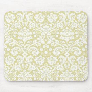 Utsmyckad blom- damast för guld mus mattor