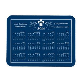 Utsmyckad Fleur de Lis 2014 för personlig kalender Magnet