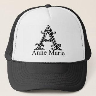Utsmyckad Monogram: Anne Marie Truckerkeps