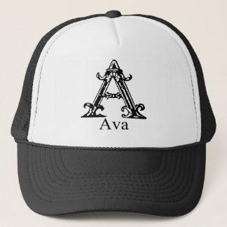 Utsmyckad Monogram: Ava Truckerkeps