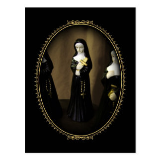 Utsmyckad nunna vykort