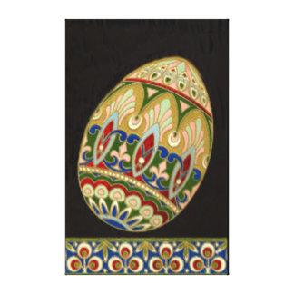 Utsmyckad påsk dekorerat färgad målat ägg canvastryck