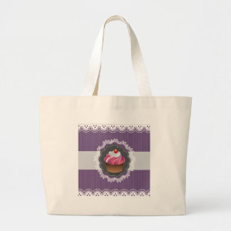 Utsmyckad purpurfärgad muffin jumbo tygkasse