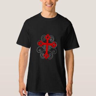Utsmyckad röd Celtickorskjorta Tee