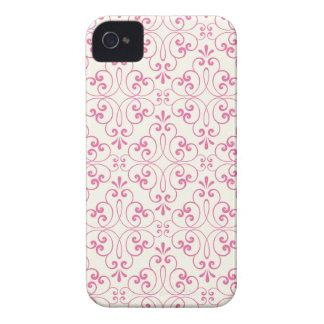 Utsmyckade damastast dekorativa rosor lagar mat iPhone 4 Case-Mate fodraler