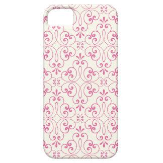 Utsmyckade damastast dekorativa rosor lagar mat iPhone 5 cover