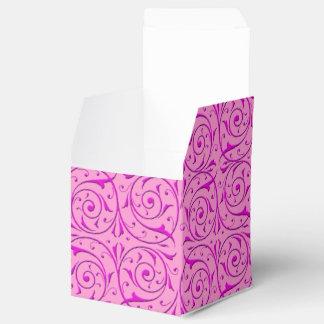 Utsmyckat blom- Swirly för rosor damastast mönster Presentaskar