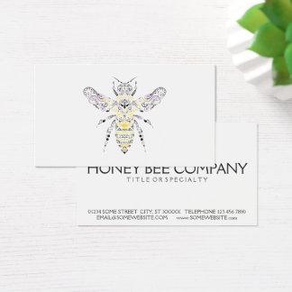 utsmyckat honungbi visitkort