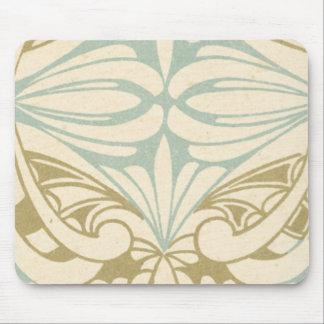 utsmyckat mönster för art nouveaustilabstrakt mus mattor