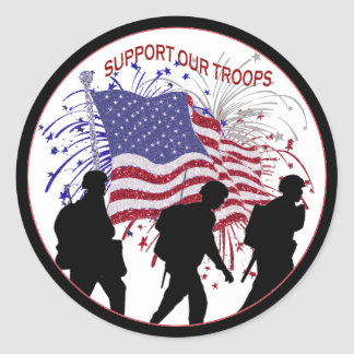 Utsökt service vår soldatrundaklistermärke runt klistermärke