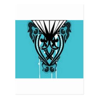 Utstående virvlar runt design vykort