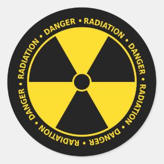 Utstrålningssymbolklistermärke Runt Klistermärke