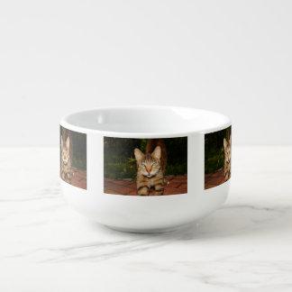 Uttråkad kattungeKopp för Soppa Mugg För Soppa