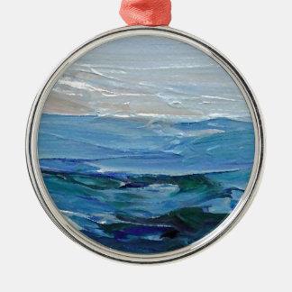 Uttryck av havet - havdekor julgransprydnad metall