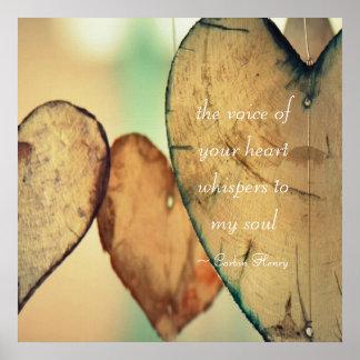 Uttrycka av din hjärta viskar till min soul poster