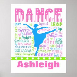Uttrycker den pastellfärgade dansare för poster
