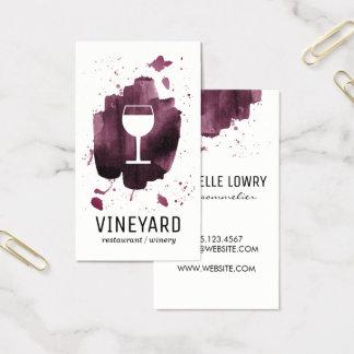 Uttrycksfullt borstat struktur-/vinexponeringsglas visitkort