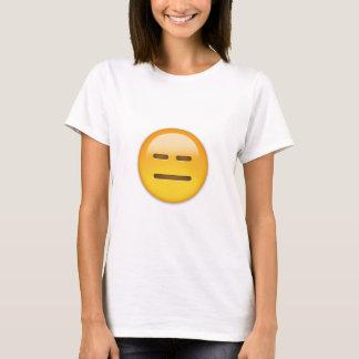 Uttryckslöst ansikte Emoji Tee