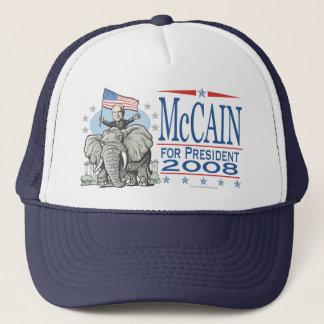 Utvald McCain GOP-elefant 2008 Keps