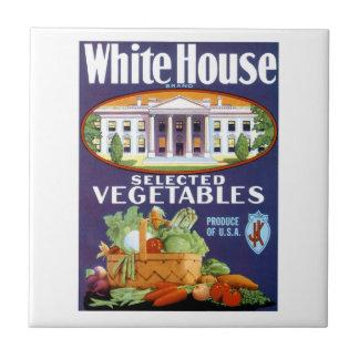 Utvalda grönsaker för Vita hus Kakelplatta