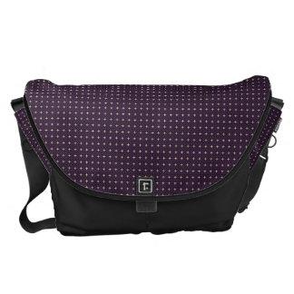 Utvändigt tryck för modern Purple_Black messenger Kurir Väskor