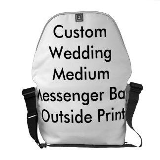 Utvändigt tryck personligt bröllpför kurir väska