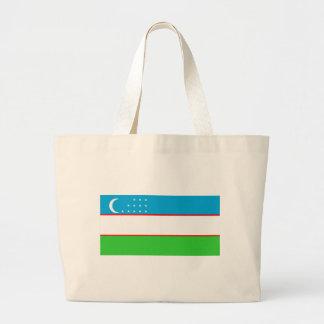 Uzbekistan flagga tygkasse