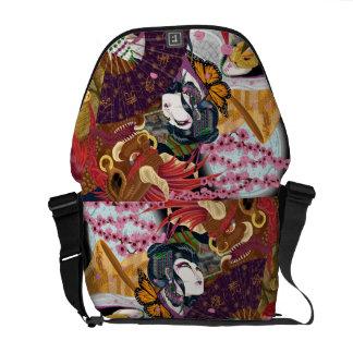 Uzume och den Oni budbärare hänger lös Messenger Bag