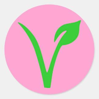 V är för Vegan Runt Klistermärke