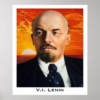 V.I. Lenin affisch Poster
