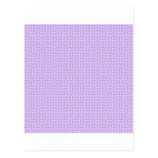V- och H-sicksack - wisteria- och bleklavendel Vykort