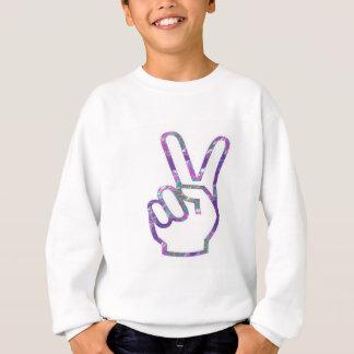 V-SEGERN räcker fingersymbol T-shirt