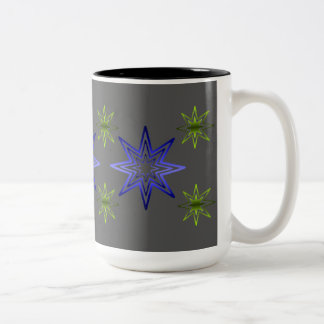 Väcka stjärna på grått Två-Tonad mugg