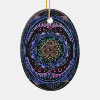 Väcka zenmönster, reiki som läker, chakra julgransprydnad keramik