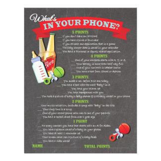 Vad är i din mobila baby showerlek reklamblad 21,5 x 30 cm