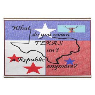 Vad dig betyder, är Texas inte en republik Bordstablett